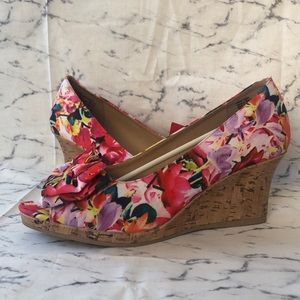 Floral Cork Wedges